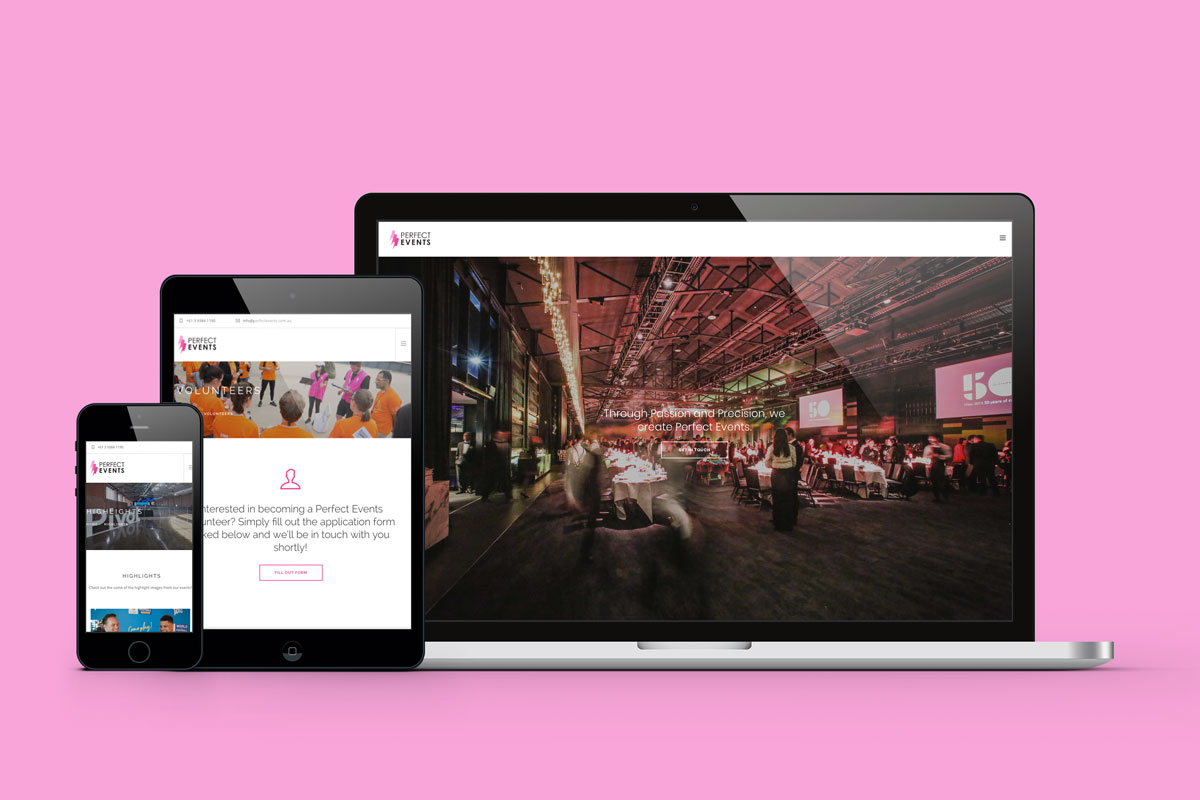 Perfect Events Website / View Case Study